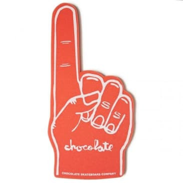 Chocolate Number 1 Foam Finger Red