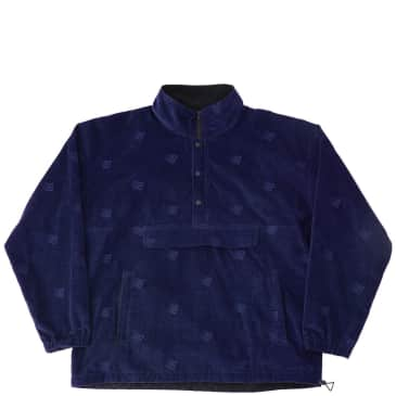 Bronze 56k Allover Embroidered Anorak - Navy