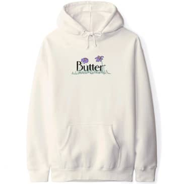 Butter Goods Flowers Hoodie - Bone