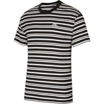 Nike SB Striped T-Shirt - Black/White