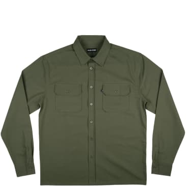 Pass~Port Workers Long Sleeve Shirt - Olive