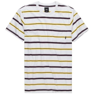 Vans Condit Stripe Pocket T-Shirt - White