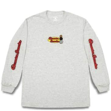 Quartersnacks Middle School Long Sleeve T-Shirt - Ash Grey