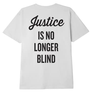 JUSTICE IS NO LONGER BLIND SUSTAINABLE T-SHIRT