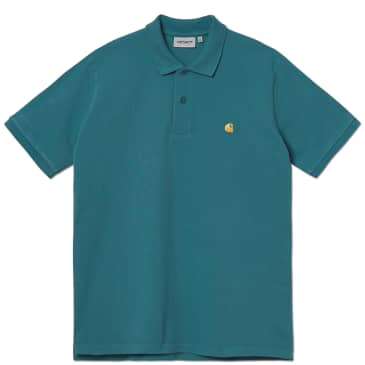 Carhartt WIP Chase Pique S/S Polo - Hydro / Gold