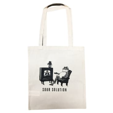 SOUR TV FROG TOTE BAG - SOUR CREAM