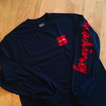 CHOCOLATE READING C.T.W. L/S TEE - NAVY RED