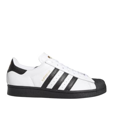 adidas Skateboarding Superstar ADV Shoes - FTWR White / Black / Gold