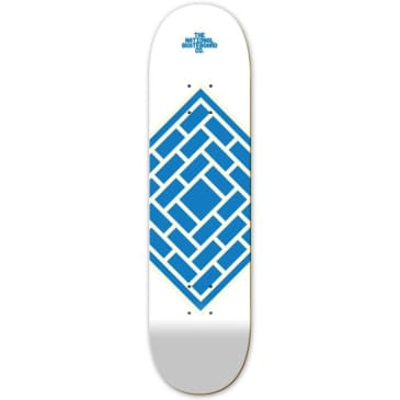 """The National Skateboard Co. - Classic White - High Concave - Skateboard Deck - 8.0"""""""
