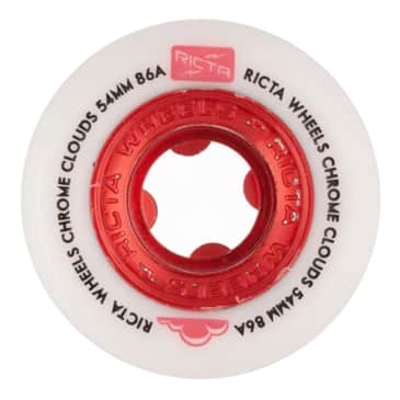 Ricta Chrome Clouds Red 86a 54mm Wheels