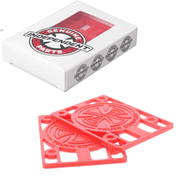 """Independent Genuine Parts 1/8"""" Riser Pad - Red"""