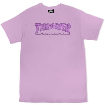 Thrasher Outlined Logo T-Shirt (Orchid)