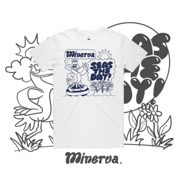 Minerva Seas The Day T-Shirt - White