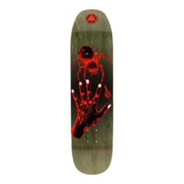 Welcome Gateway on Son of Moontrimmer Olive / Coral Skateboard Deck - 8.25""
