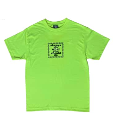 always do what you should do Always Logo T-Shirt - Safety Green