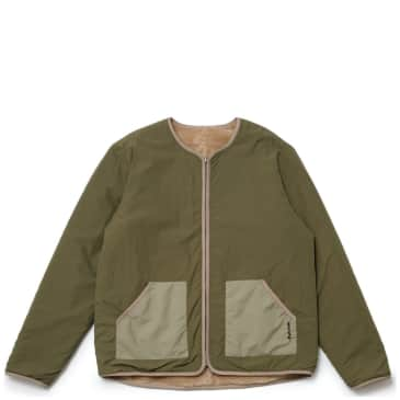 Magic Castles Reversible Collarless Jacket - Olive Sand