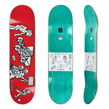 """Polar Skate Co Nick Boserio Cash Is Queen Red Skateboard Deck - 8.125"""""""