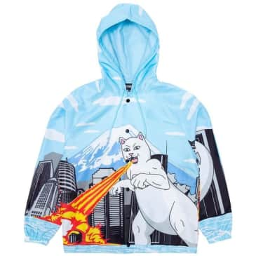 Ripndip Nermzilla Hooded Coach Jacket - Baby Blue