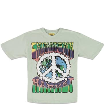 Chinatown Market Peace On Earth Clouds T-Shirt - Tea Green