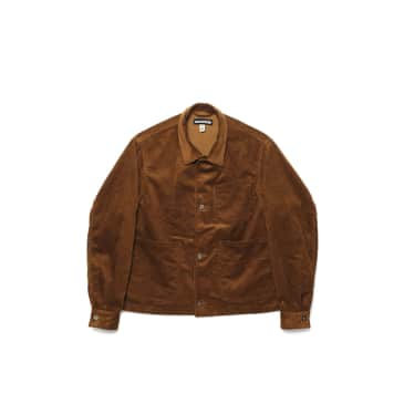 Monitaly Triple Needle Work A-Jacket - Chestnut 8 Wale Corduroy