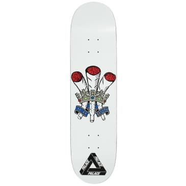 Palace Skateboards Ich Bun White S22 Skateboard Deck - 8.0""