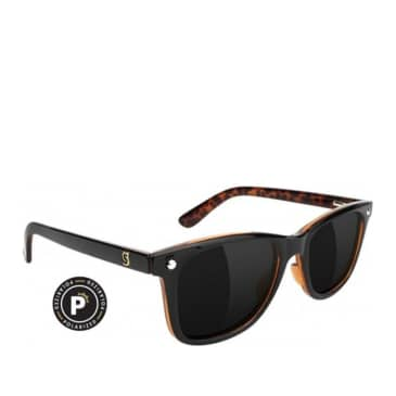 Glassy Mikemo Polarized Sunglasses - Black / Tortoise