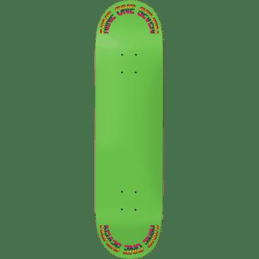 "Call Me 917 Rainbow Slick Skateboard Deck Green - 8.5"""