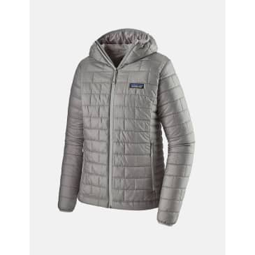 Womens Patagonia Nano Puff Hooded Jacket - Feather Grey