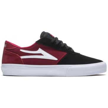Lakai Manchester Suede Skate Shoes - Black / Red