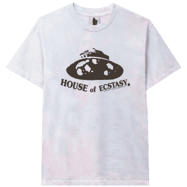 Real Bad Man House Of Ecstasy Tie Dye T-Shirt - Cotton Candy