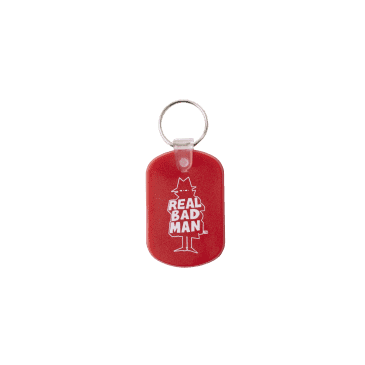 Real Bad Man Guest Key Chain - Red