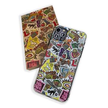 iPhone X Sticker Pile Phone Case