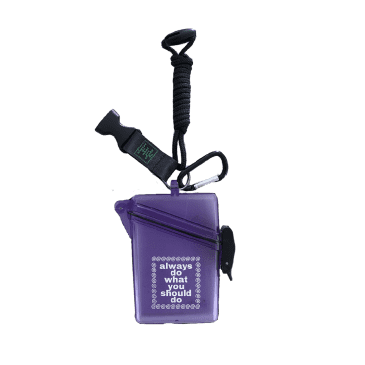 always do what you should do - Lanyard Case - Clear Purple