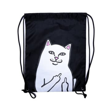 Ripndip Lord Nermal Drawstring Bag - Black