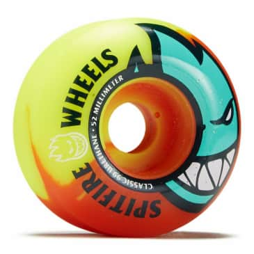 Spitfire Bighead Neon Orange/Yellow Wheels