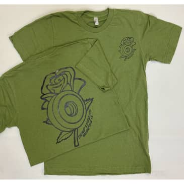 IMPACT Rose Wheel Tee Military Green