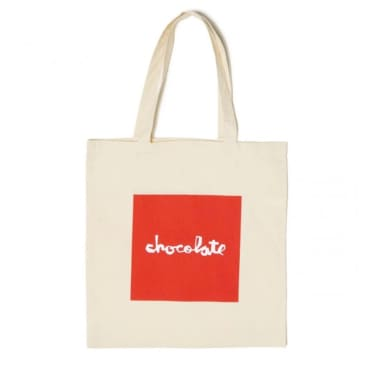 Chocolate Skateboards Red Square Canvas Bag