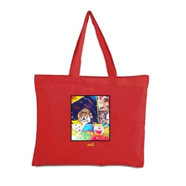 Snack - Memo Book Tote (Red)