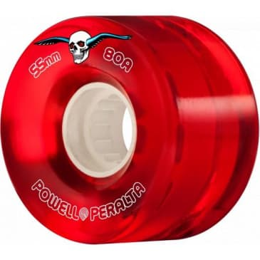 Powell Peralta Clear Cruiser Wheels 80a - Red 55mm