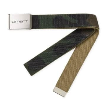 Carhartt WIP Clip Belt Chrome - Camo Laurel