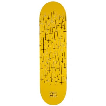 Carve Wicked Team Skateboard Deck Yellow - 8.00