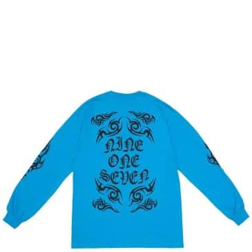 Call Me 917 Tribal Long Sleeve T-Shirt - Aqua