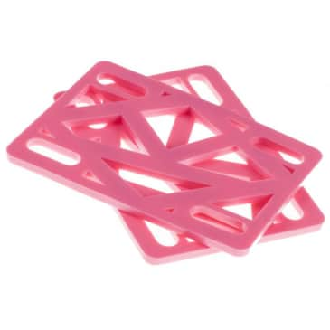 "Krooked Skateboards 1/8"" Riser Pads - Pink"