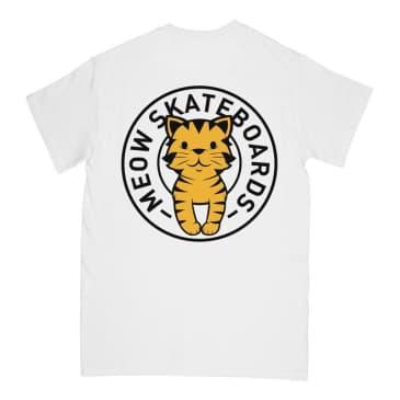 Meow Tabby Seal T-Shirt - White