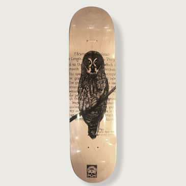 O.W.L Skateboards Great Gray Owl Deck - 8.25""