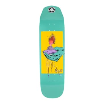 """Welcome Skateboards Soil Nora Vasconcellos Pro Model On Wicked Queen Teal Dip 8.6"""""""