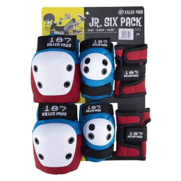 187 Junior Six Pack - Red White Blue