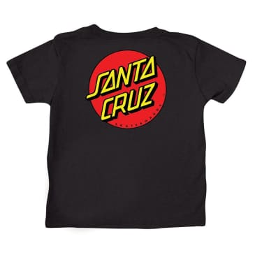 SANTA CRUZ Toddler Classic Dot Tee Black
