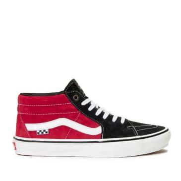 Vans Skate Grosso Mid Shoes - Black / Red