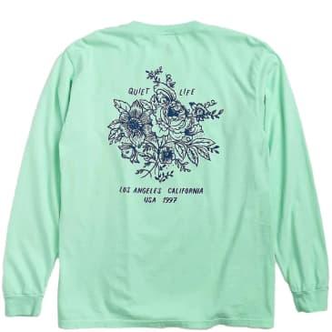 The Quiet Life Duggan Pigment Dyed Long Sleeve T-Shirt - Mint